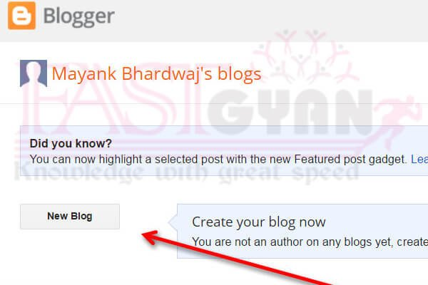 Create a Blog step by step in hindi