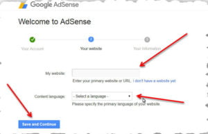 google adsense setting
