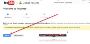 youtube adsense setting