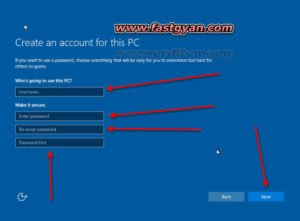windows 10 crate an account