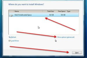 windows 7 drive setting