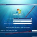 windows 7 install seting