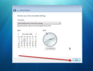 windows 7 time zone setting
