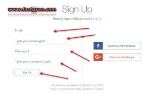 free website sign up