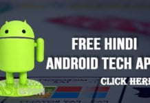 Free Hindi Android Tech Apps ki Jankari