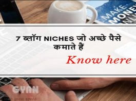 7 Niches Earn Money Blogs ki Jankari Hindi Me