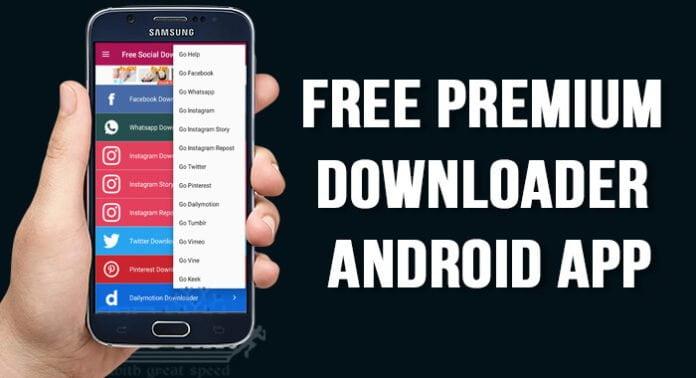 Free Premium Downloader Android App ki Jankari